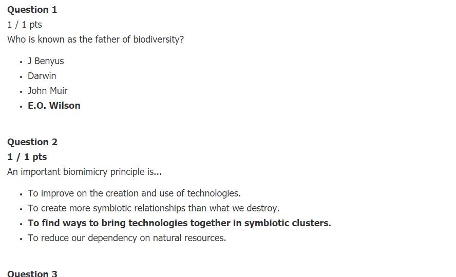 SCN 307 Biomimicry